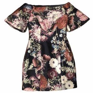 Keepsake Floral Off Shoulder Tailored Mini SMALL